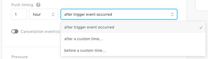 Trigger timer options